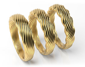 Pipe twisted rings 3D print model