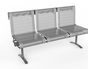 3D Waiting Room Chair 3 Seats