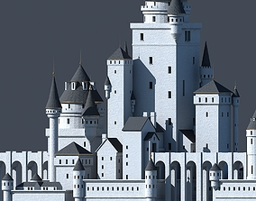 Fantasy Castle 001 3D model