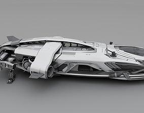 3D model Sci-fi Spaceship Frigate
