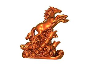 galloping horse 3D printable model