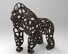 3D printable model Gorilla Voronoi