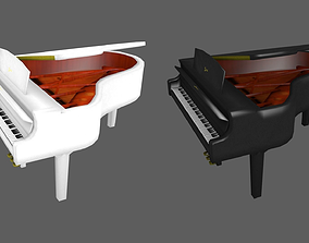 Piano orchestral 3D model VR / AR ready