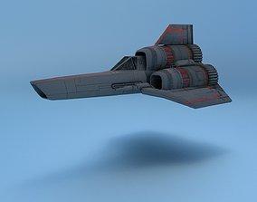 3D asset realtime Battlestar Galactica Colonial Viper