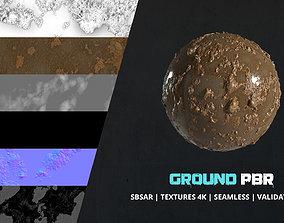 Textures Wet Muddy Ground 4k Pbr - 030 3D model