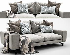 3D model livingroom Sherman 2 Seater by Minotti