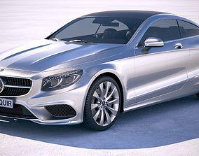 3D model Mercedes S-Class Coupe 2019