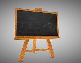 3D model low-poly Black Board