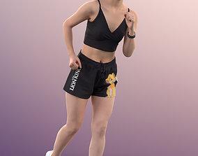 11360 Anita - Sporty Asian girl jogging 3D model