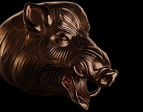 3D printable model Head of hog for printing
