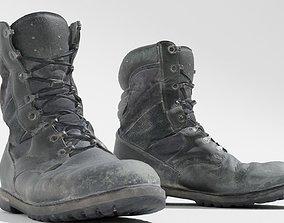 3D asset Worn military boots