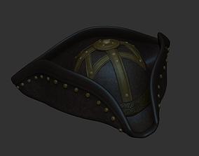 3D model Blackbeard Hat - Pirate Costume