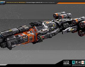 3D asset realtime SF REBEL Destroyer RF3