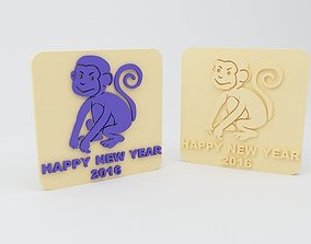3D print model Year of the Monkey