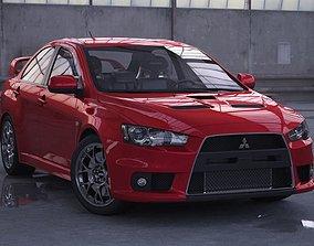Mitsubishi Lancer Evo X 3D model