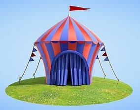 Cartoon Circus tent Big Top Arena Show 3D model show