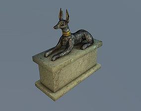 Low poly Anubis sculpture 3D model