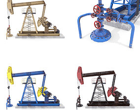 3D model Oil Pumpjack Animated Pack