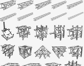 Square Truss Standard 25 Modular Pieces 3D print model