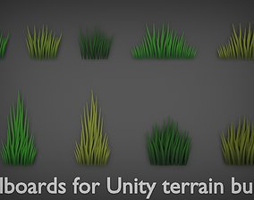 Grass pack 3D model game-ready