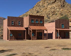Wild West Town 3D asset