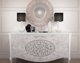 3D model sideboard Arkeos KRONOS K100 White Silver