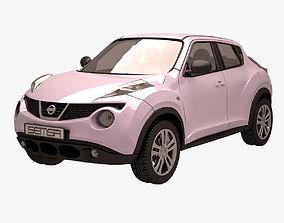 3D model Nissan Juke 001 Pink front