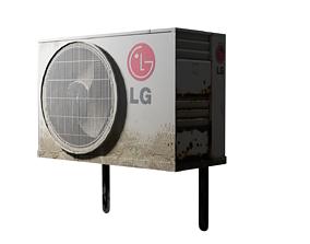 Low poly Air Conditioner Unit 3D