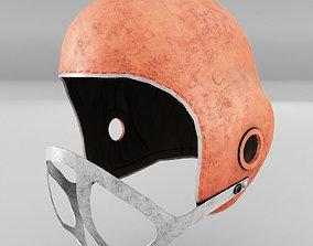 American Football Helmet Old 3D model