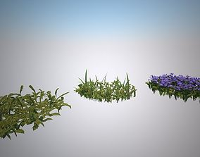 Grass and Flowers for the 3D asset VR / AR ready