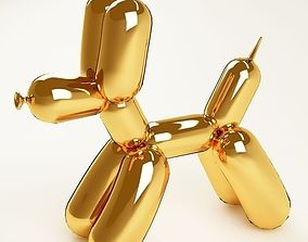 3D model Balloon dog 04 gold