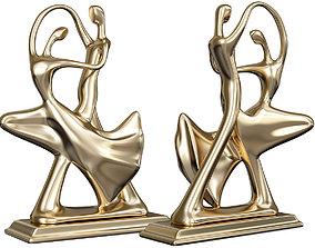 3D print model printable Dancing Couple Sculpture