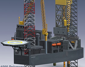 3D asset Jack Up Oil Rig