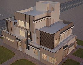 Exterior modern house 3D
