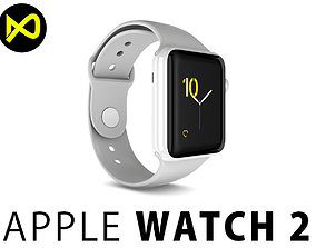 Apple Watch Edition Series 2 White 3D