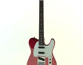 Fender Telecaster red metallic 3D model