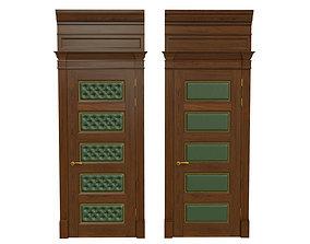 Classic wooden door 02 3D model