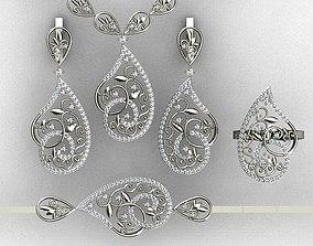Ring pendant bracelet earring 3D printable model