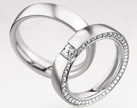 3D print model Wedding rings 183