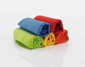 3D model Small towels with different collors