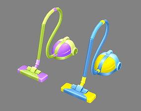 Cartoon vacuum cleaner 3D asset