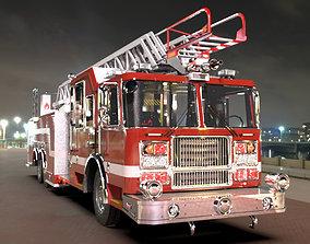 3D asset FireTruck Seagrave 2006 43K polys