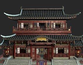 Urban house construction buildings in ancient 3D asset