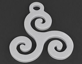 3D print model Triskelion Pendant 02