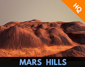 3D model Hills Mars Planet Mountain Terrain Landscape 3