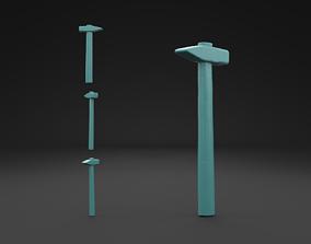 Scanned Old Damaged Hammer 3D Print Model