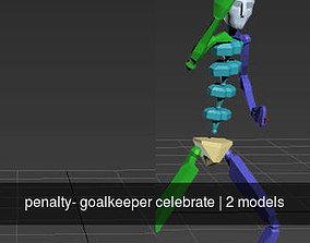 penalty- goalkeeper celebrate 3D