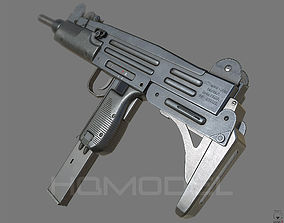 3D asset Uzi SMG Gun PBR Generic