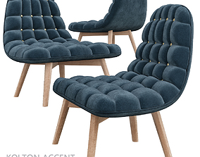 game-ready Kolton Accent Armchair 3d model