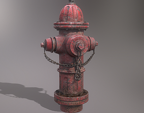 Fire Hydrant 3D model realtime